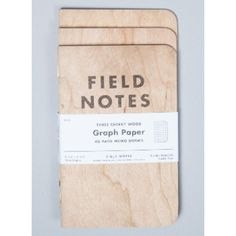 3-Pack Cherry Wood Graph Notebook ($11) ❤ liked on Polyvore featuring home, home decor and stationery