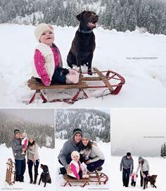 Winter family photos outdoor