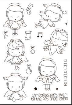Look what I found on AliExpress Easy Coloring Pages, Coloring Books, Album Photo Scrapbooking, Illustration Noel, Cheap Stamps, Tampons Transparents, Christmas Drawing, Digital Stamps, Doodle Art