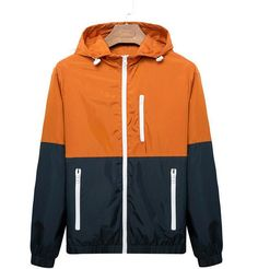 Casual Color-Block Sporty-Style Lightweight Men's Jacket M-3XL 3 Colors