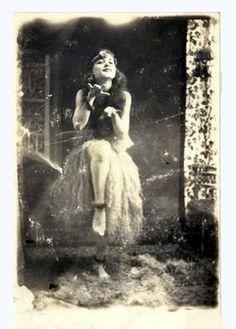 Hula girl from long ago.