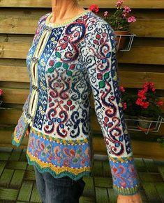 Norsk strikkedesign / Norwegian Knitting Designs of Ma . Knitting Stiches, Knitting Patterns, Norwegian Knitting Designs, Knit Art, Quirky Fashion, Knitwear Fashion, Fair Isle Knitting, Knitting Accessories, E Design