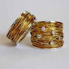 Ringen : Goud Diamant, in het zilver!