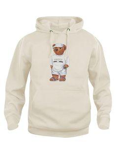 Calvin The Bear - Creme Jilly Hoodie