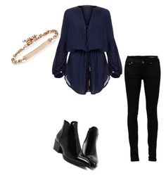 """""""Another day another set"""" by denitsaa on Polyvore featuring Yves Saint Laurent, ViX, Hoorsenbuhs, women's clothing, women, female, woman, misses, juniors and jeans"""