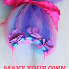 8c758f3112e Let every guest make and wear their own Troll hair! Princess Poppy Costume  Diy