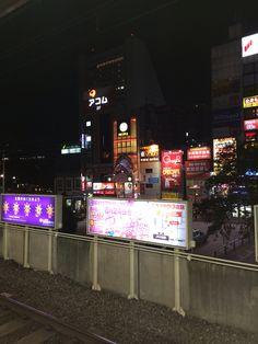 いつかの花金の中野駅。 お父さんと一緒にプラネタリウムを見た。