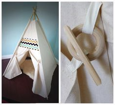 Canvas Teepee Tent, with 6 ft Bamboo poles INCLUDED, Natural Handmade toy, Kids play tent, Pet tent Diy Teepee, Canvas Teepee Tent, Kids Tents, Teepee Kids, Teepees, Play Tents, Sewing For Kids, Diy For Kids, Bamboo Poles