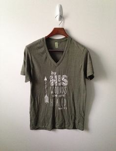 by His wounds . vneck on Etsy, $28.00