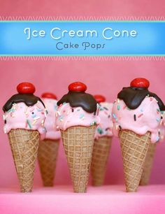 Decadent Cone Cakes - These Ice Cream Cone Cake Pops from Bakerella are a Drip-Less Alternative (GALLERY)