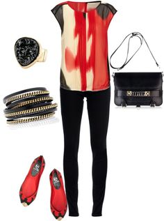 Black and Red, created by emilyisenberg on Polyvore