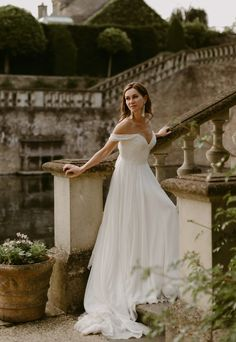 Ella by Naomi Neoh Enchanted April 2019 Collection Classic Wedding Dress, Colored Wedding Dresses, Boho Wedding Dress, Bridal Dresses, Wedding Dress Illusion Back, Wedding Dress Boutiques, Minimalist Dresses, Gowns Of Elegance, Bridal Style