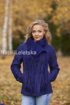 Жакет валяный  Королевский синий-войлок – купить или заказать в интернет-магазине на Ярмарке Мастеров | Жакет валяный  Королевский синий-войлок.    …