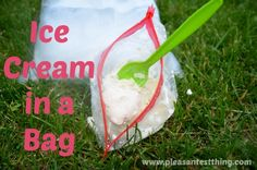 ice cream in a bag..going to try this with Ashton today, hopefully it turns out edible:)