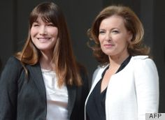Au revoir, Carla! Carla Bruni surrendered her (proverbial) First Lady of France crown today and handed it to Valerie Trierweiler, the girlfriend of Francois Hollande, at Hollande's inauguration as president of France.