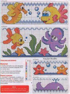 Χειροτεχνήματα: Θαλασσινά σχέδια για σταυροβελονιά / sea cross stitch patterns