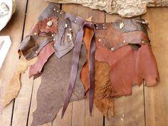 Festival Leather Skirt, Pixie Skirt, Burning man, #pixieskirt #leather by GoddessesUnlimited