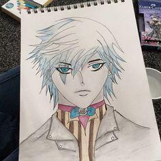 Coloured in manga guy