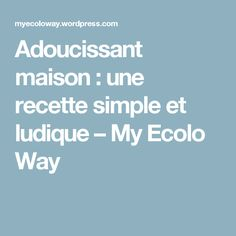 Adoucissant maison : une recette simple et ludique – My Ecolo Way Aloe Vera, Hacks, Cleaning, Diy, Christmas Arts And Crafts, Bricolage, Home Cleaning, Handyman Projects, Do It Yourself