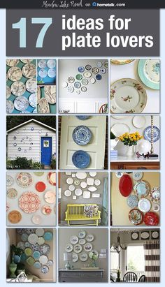 Ideas to Display Plates - Meadow Lake Road
