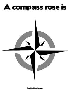 pirate bedroom printable stencil - compass