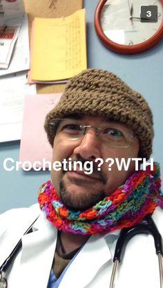Crotchet hell.... Crazy husband!