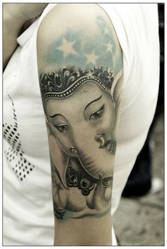 Love the softness of this. Colors red and yellow, no stars. Spiritualtattoo