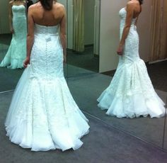 Show me the bustle on your lace fit and flare or mermaid dress « Weddingbee Boards I LOVE this bustle!