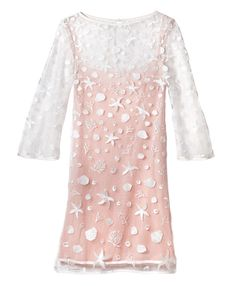 """The Little Mermaid"" Turns 25! Patterned tulle and satin shift dress ($368; tadashishoji.com) #InStyle"