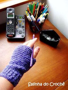 Salinha do Croché: Passo-a-passo da luva básica de crochê com dedinhos de fora