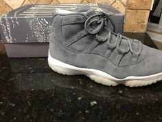 Nike Air Jordan Retro 11 XI Premium Grey Suede Size 11 Pinnacle 914433-003