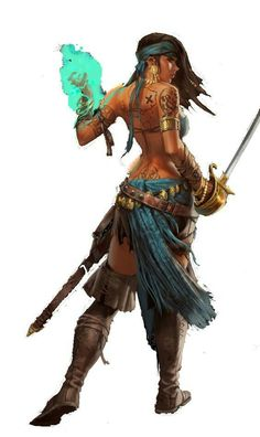 Female pirate sorceress