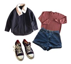 """""""Stranger things"""" by unechelou ❤ liked on Polyvore featuring The Kooples, American Apparel and Converse"""