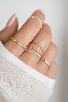 Minimal Jewelry, Stylish Jewelry, Simple Jewelry, Dainty Jewelry, Cute Jewelry, Jewelry Accessories, Jewelry Design, Ring Set, Ring Verlobung