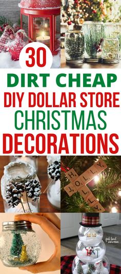 I love decorating for Christmas and the home decor stores make me want to decorate my house like out of a magazine. But I can't afford those beautiful Christmas decor ideas on a budget. These cheap Dollar Store DIY Christmas decorations are exactly what I need to decorate my house DIY style. Definetly pinning this for later!