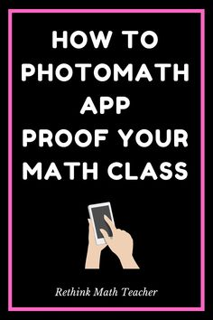 The PhotoMath App has made cheating easier than ever. Here's what you can do to not lose the fight and get your students to do their work without cheating. Math Class, Math Teacher, Math Textbook, Visible Learning, Learning Stations, Effective Teaching, How To Gain Confidence, Teaching Strategies, What You Can Do