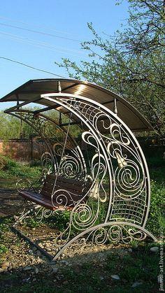 Beautiful yard swing!