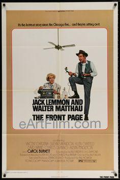 Happy Birthday #JackLemmon https://eartfilm.com/search?q=jack+lemmon #actors #acting #legends #film #movies #cinema #silverscreen #legends #posters #movieposters   Front Page-1975-27x41-Billy Wilder-Jack Lemmon-Walter Matthau-Susan Sarandon