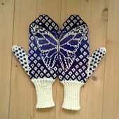 Ravelry: Butterfly Wish Mittens pattern by Emily Bujold
