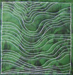 The Free Motion Quilting Project: Day 203 - Flowing Lines