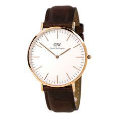 Daniel Wellington 0106DW Men's White Dial Brown Leather Band Watch,    #DanielWellington,    #DanielWellington0106DW
