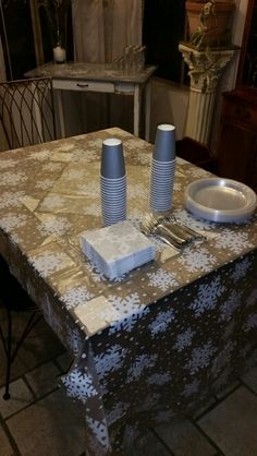 Snowflakes Food table