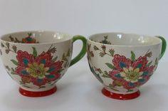 Dutch Wax - French Nouveau Eclectic Bistro mugs