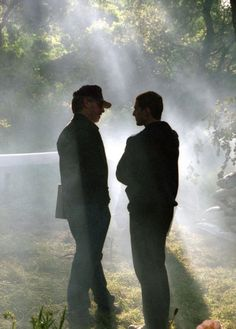"""Steven Spielberg y Tom Cruise en el rodaje de """"Minority Report"""", 2002"""