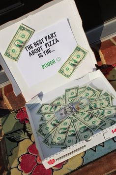 Cash Gifts.  Creative Ways To Give Cash.  Dominos Pizza Gift Idea.  $100.