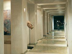 Piedra natural Solnhofen Cendra en galería de arte. #piedranatural #marmol #interiorismo
