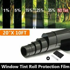 Norld 5/% VLT 24 in x 240 in 2 Ft x 20 Ft DIY Adhesive Window Tint Film Uncut Roll