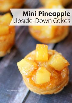 Mix it up this summer with this easy and delicious Mini Pineapple Upside-Down Cakes recipe! This classic dessert is made in tasty bite-sized portions, making them perfect for summertime entertaining.