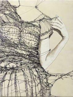 "workman:  "" alexandrainspire:  500-daysofart: Andrea Benson, Unraveling 2 | | Exquisite art, 500 days a year. |  """