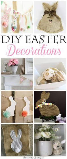 DIY Easter Decorations - these are adorable Easter decorations for your home